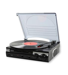 3-Speed Stereo Turntable w/ Speakers