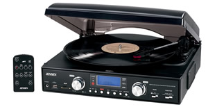 3-Speed stereo turntable with MP3...