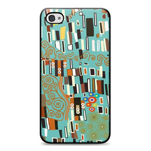 Klimt, Chic Hardshell iPhone 4 Case Teal