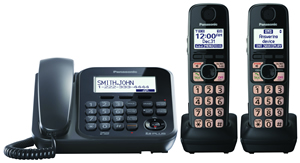 Dect 6.0+ Corded/Cordless, ITAD,2 HS, bk