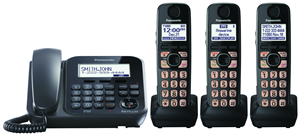 Dect 6.0+ Corded/Cordless, ITAD,3 HS, bk