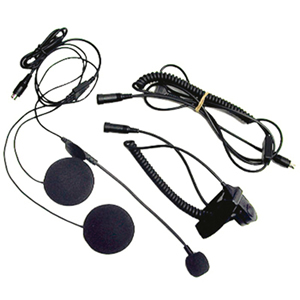 Open Face Helmet Headset Kit w/boom mic