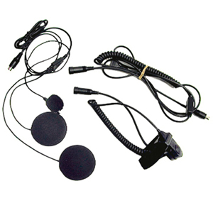 Closed Face Helmet Headset Kit w/boom mi