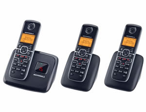 DECT6.0 cordless w/ answering-3 handsets