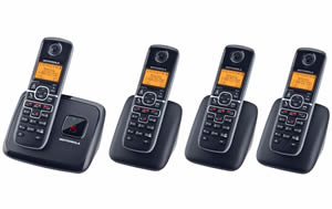DECT6.0 cordless w/ answering-4 handsets