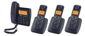 Motorola Corded/Cordless 4-pack