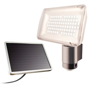 Solar Powered Aluminum 80 LED Motion Lig