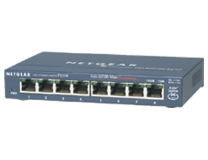 NETGEAR : ProSafe 8 Port 10/100 Switch
