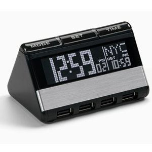 World Travel Clock with USB Hub