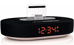 Black iPod/iPhone/iPad clock dock