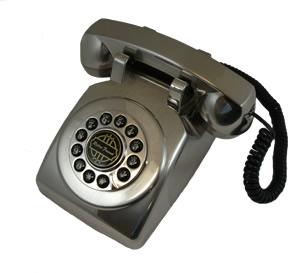 1950 Desk phone Silver