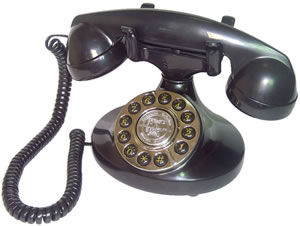Alexis 1922 Decorator Phone BLACK
