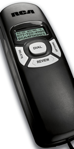 Trimline Caller ID Phone in Black