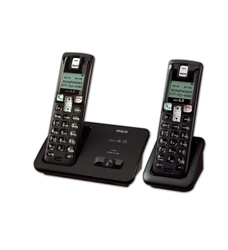 DECT 6.0 Digital Cordless Phone w/ 2 Han