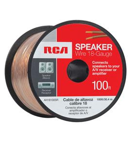 100 FT 18 GAUGE SPEAKER WIRE (SPOOL)