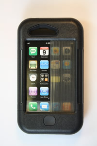 iPhone 3 case black w/ black accents