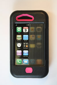 iPhone 3 Case Black w/ Pink Accents