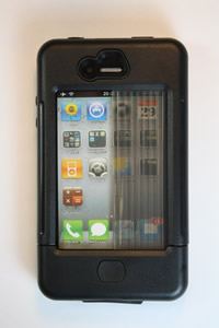 iPhone 4 case black w/ black accents