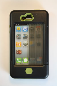 iPhone 4 case black w/ olive accents