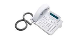 Business Phone 2 line LCD 47 keys White