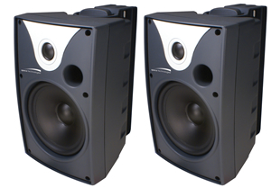 "6"" Outdoor Speaker Black and Trans. Pair"