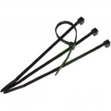 "8""  18 lb BLACK NYLON TIE WRAP 100 PK"