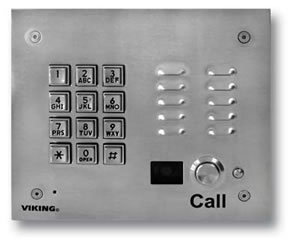 Stainless Steel Keypad and Color Camera