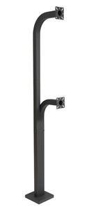 Dual Height Gooseneck Pedestal 40in 70in