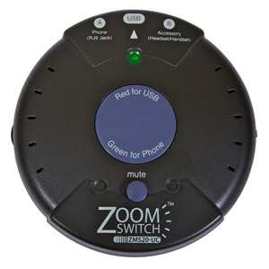 Zoomswitch headset with MUTE
