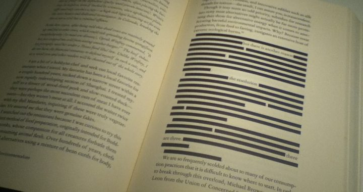 censored section of a book