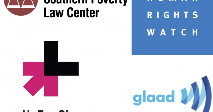 Featured Charities: Southern Poverty Law Center, Human Rights Watch, HeForShe (UN Women Solidarity Movement for Gender Equality), GLAAD