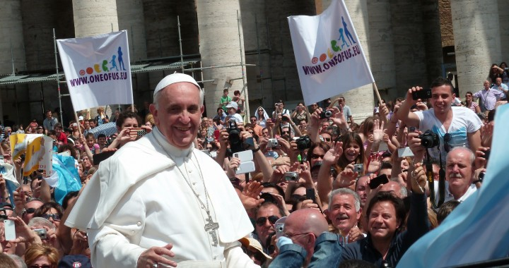 Pope Francis Among the People in St. Peter's Squre