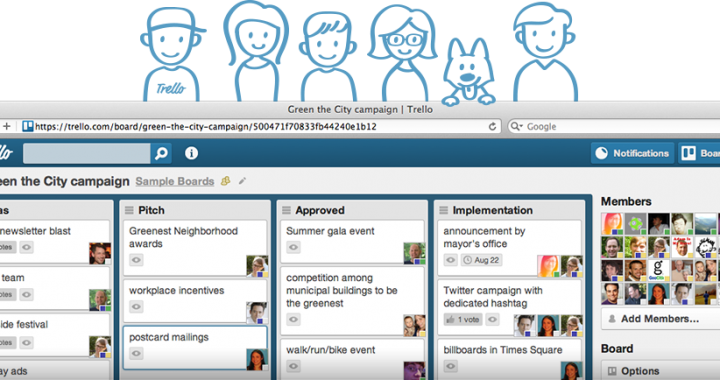Trello Sample Board Screenshot