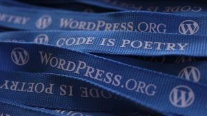 "Lanyards: WordPess.org, ""Code is Poetry"""