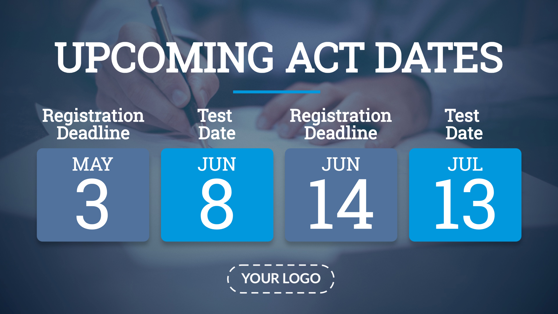 ACT Dates Digital Signage Template