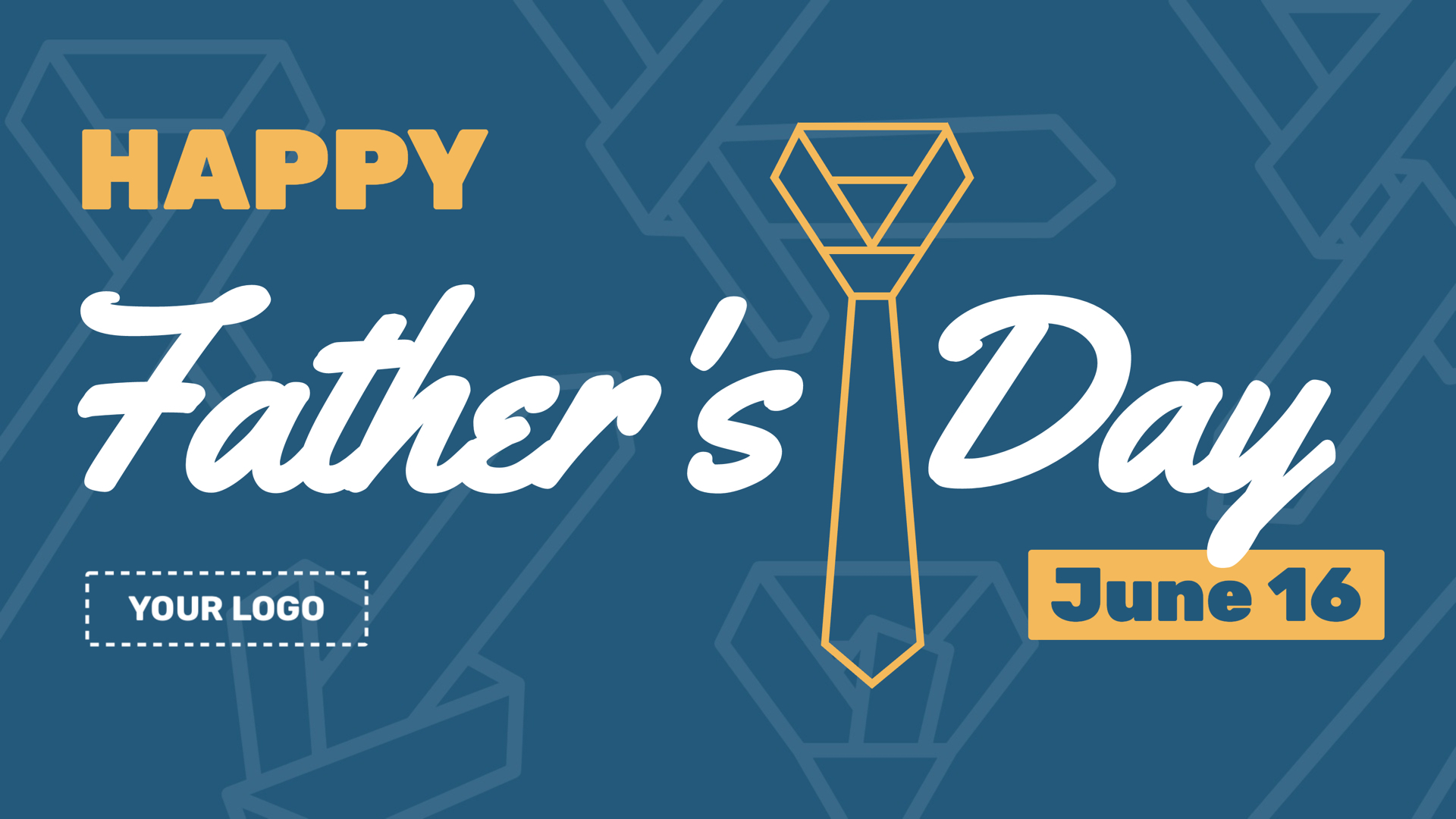 Father's Day Digital Signage Template