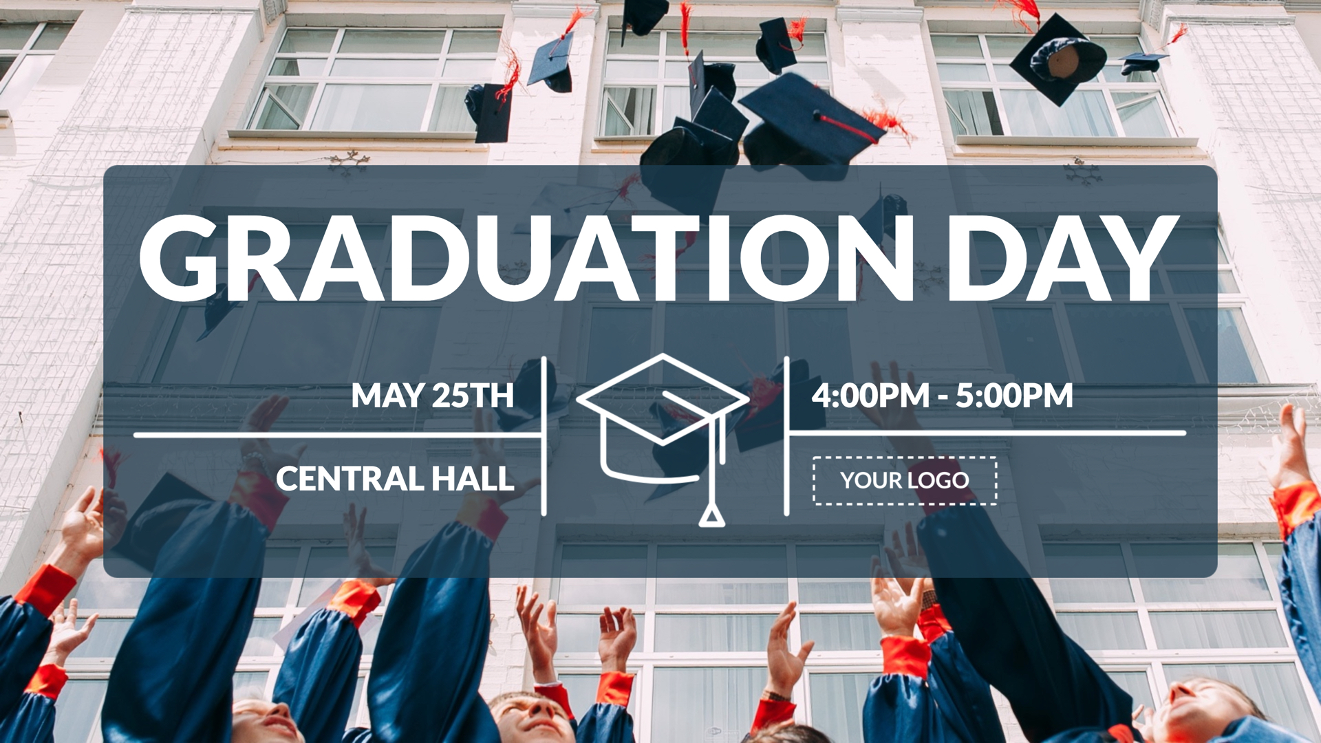 Graduation Day Digital Signage Template