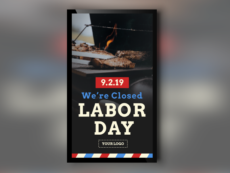 Labor Day Closure Portrait