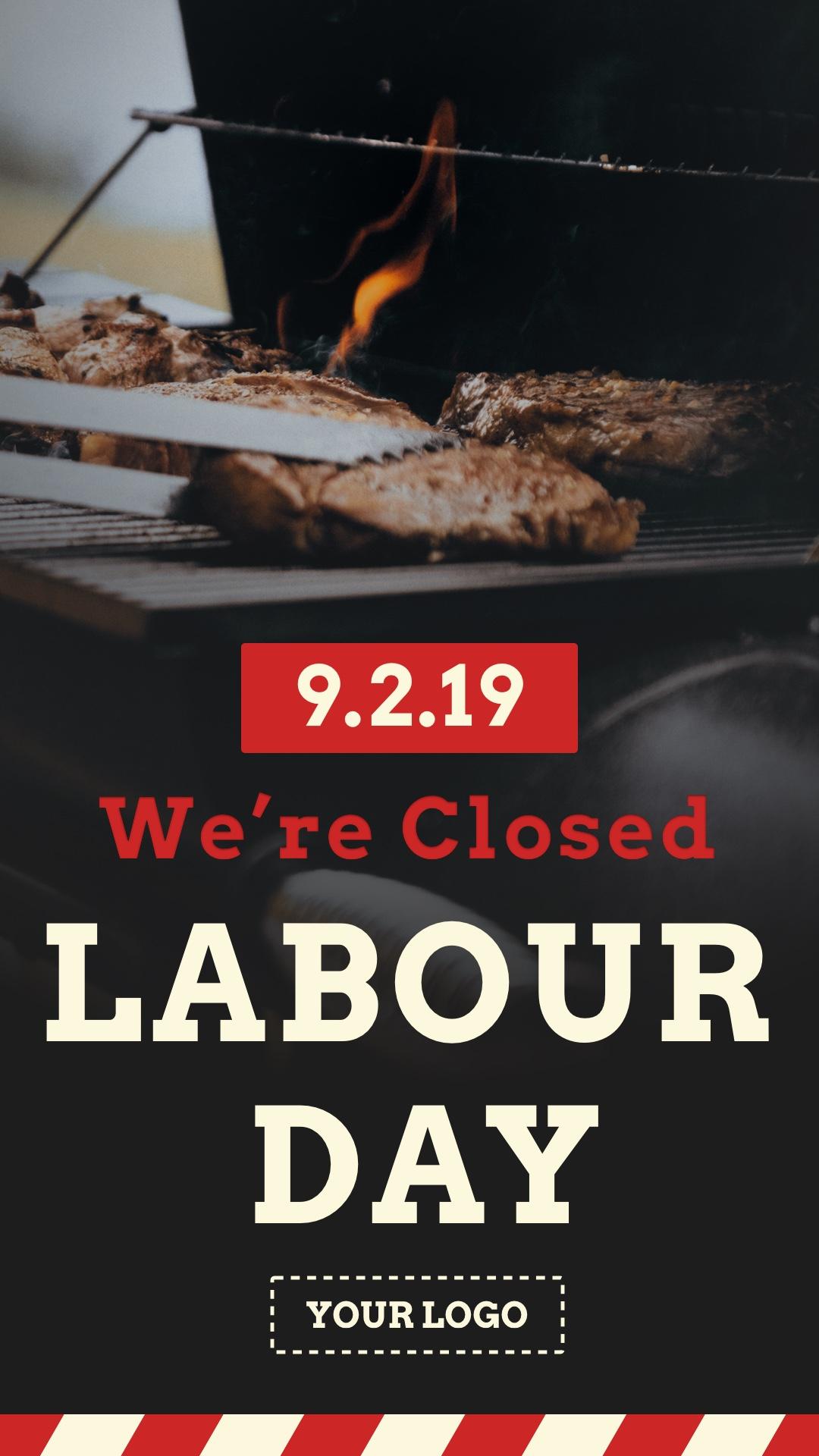 Labour Day Closure Portrait