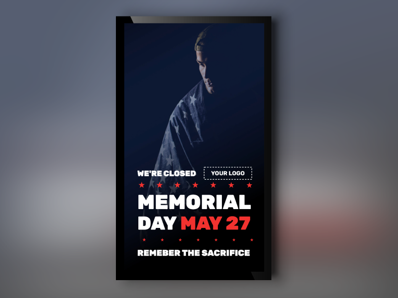 Memorial Day Remember Portrait