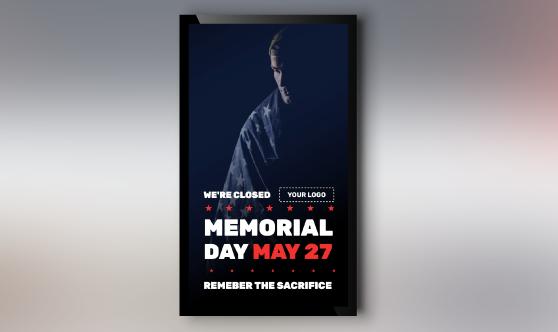 Memorial Day Remember Portrait