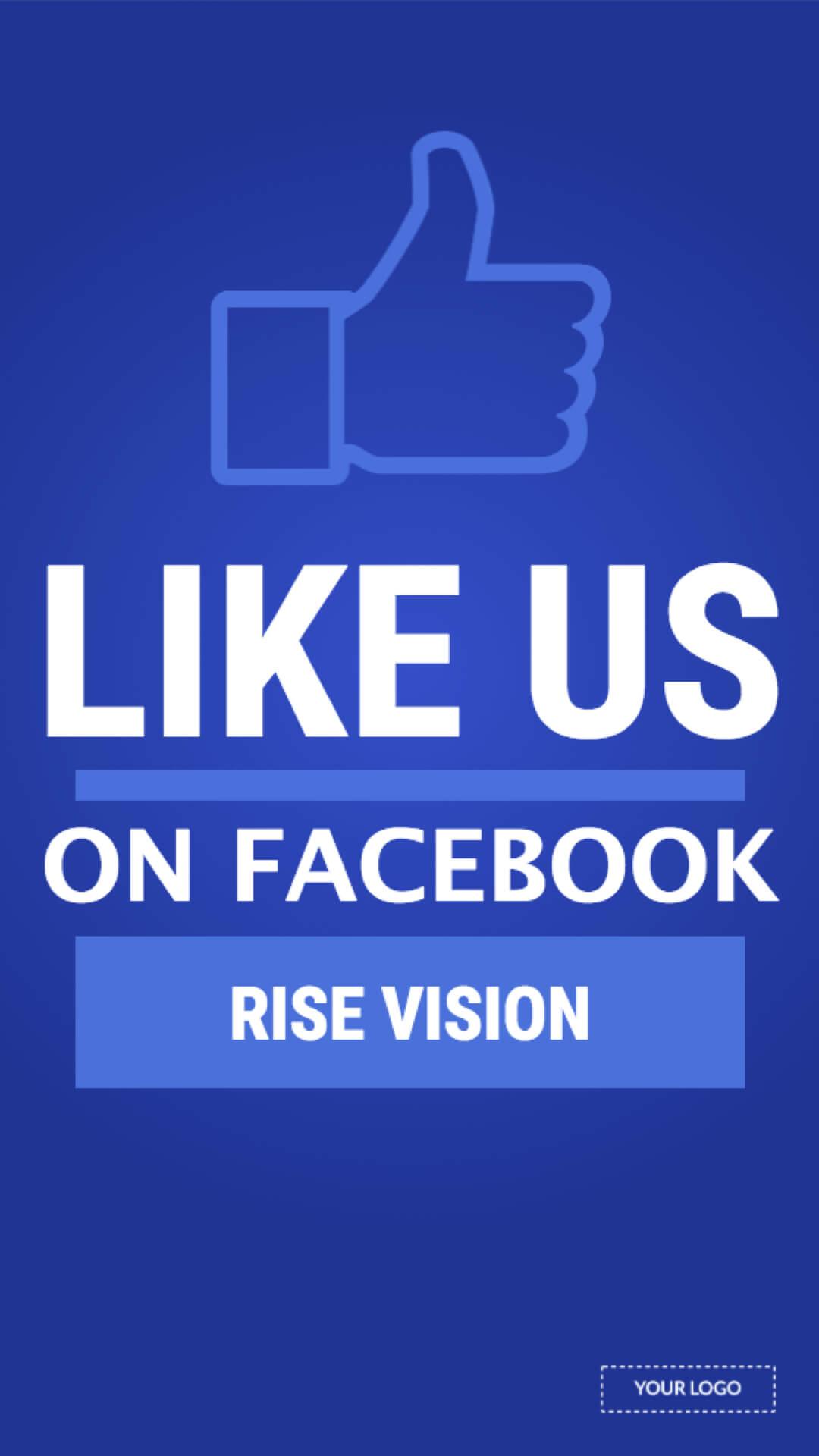 Facebook Portrait Digital Signage Template