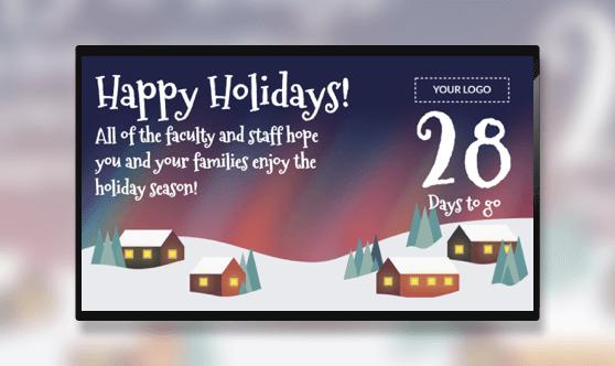 Holiday Countdown Northern Lights