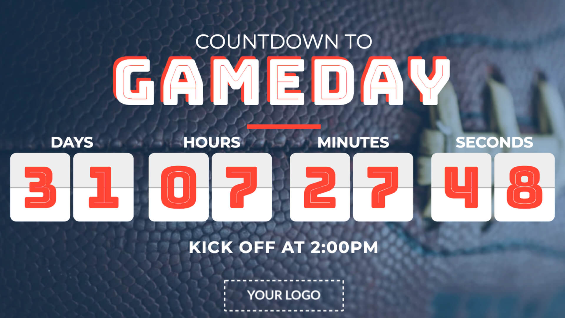 Gameday Countdown Digital Signage Template