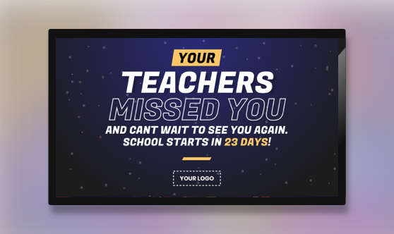 Announcement Teacher Message Countdown