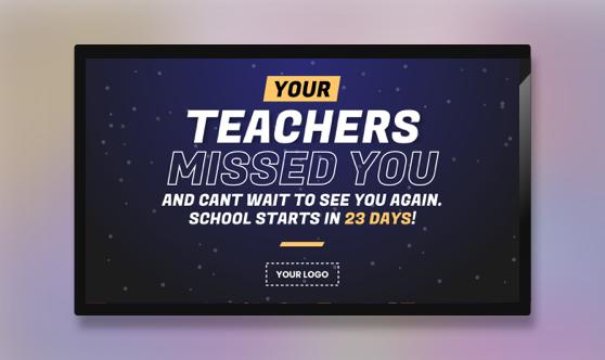 Announcement Teacher Message Countdown