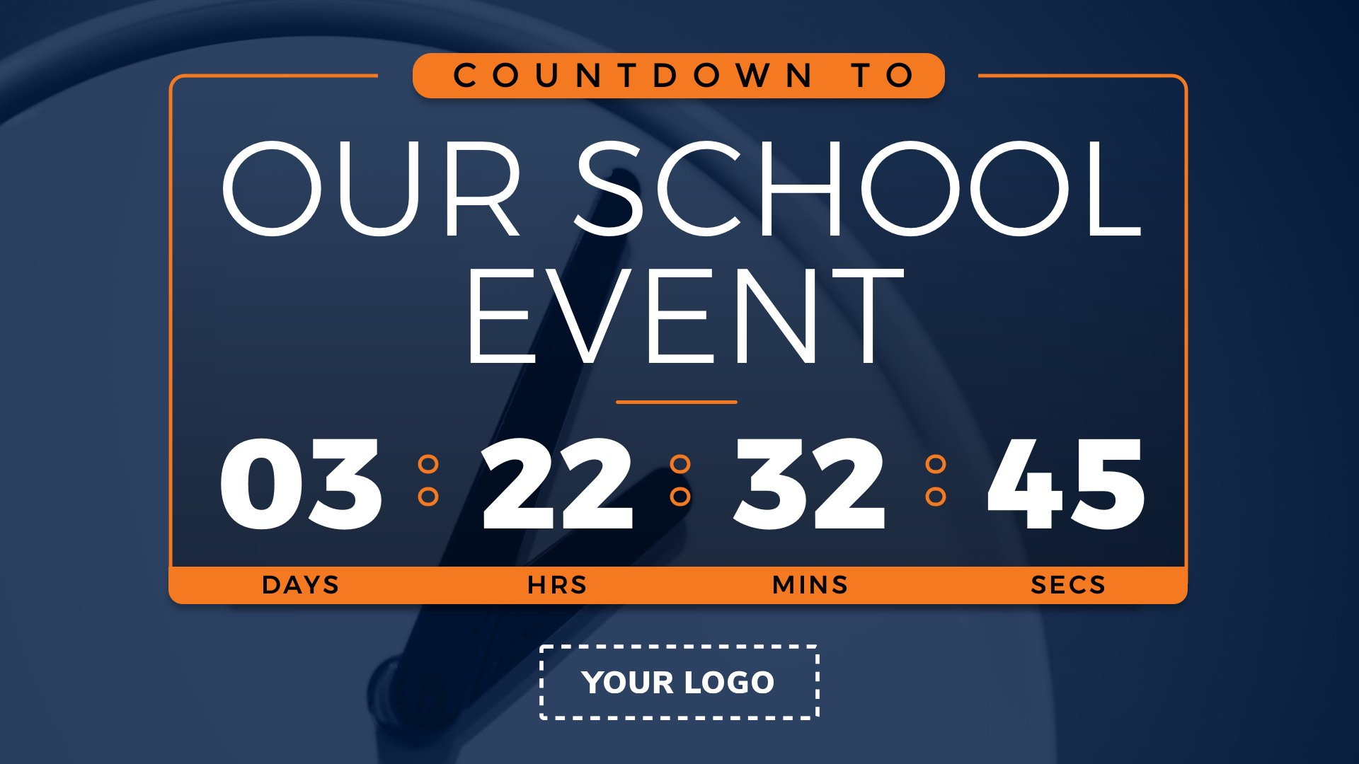 Countdown to Event Digital Signage Template