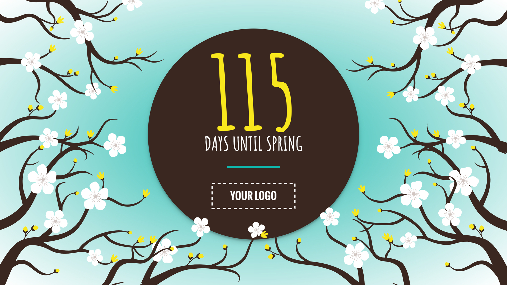 Spring Countdown Digital Signage Template