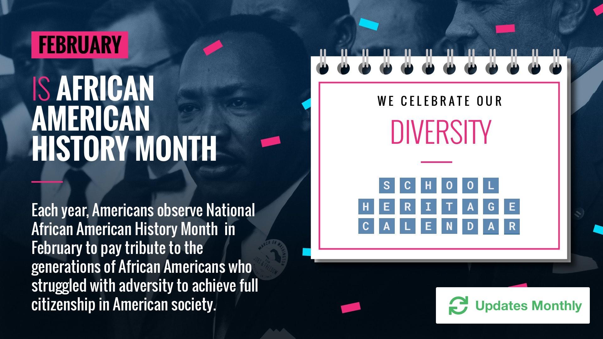 Celebrate Diversity Calendar Digital Signage Template