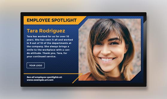 Employee Spotlight Text & Image